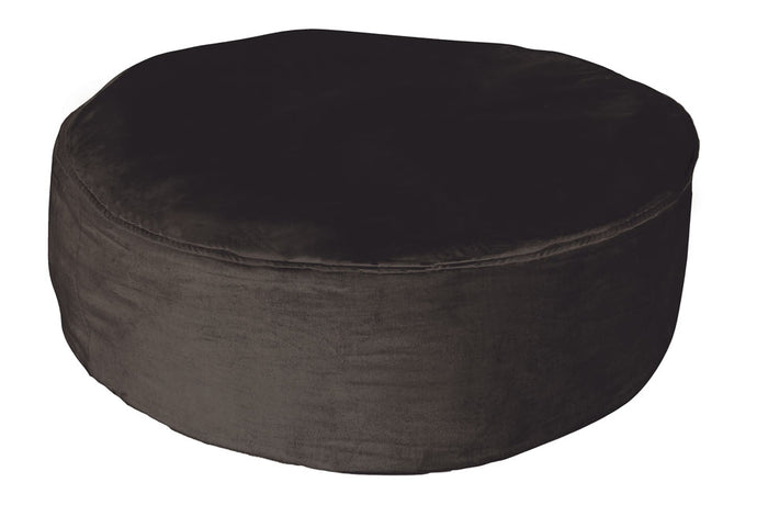 Black Velvet Floor Cushion by Castle