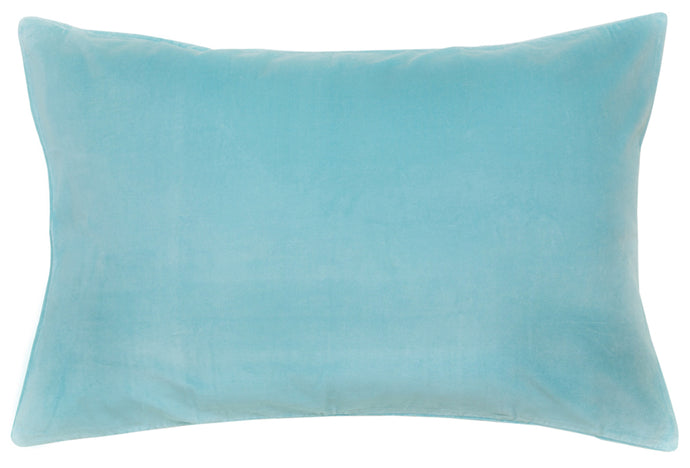 Blue Velvet Pillowcase by Castle. 50 x 75cm
