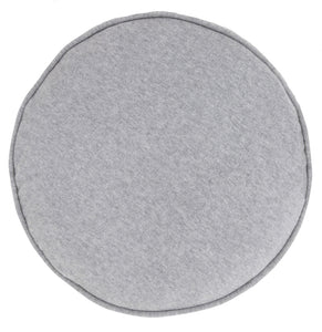 Grey Marle Cotton Knit Penny Round Cover by Castle