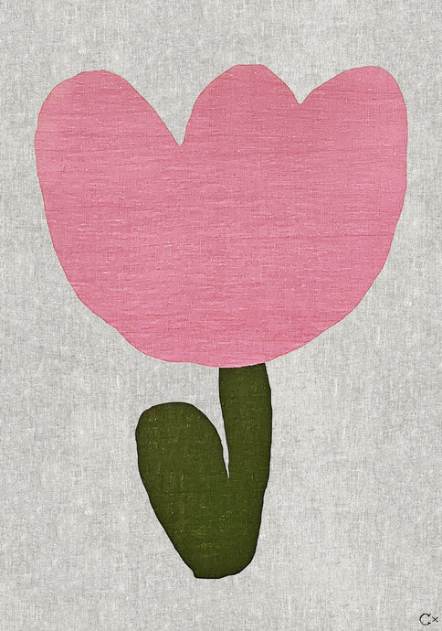 BABY FLOWER ART TEATOWEL
