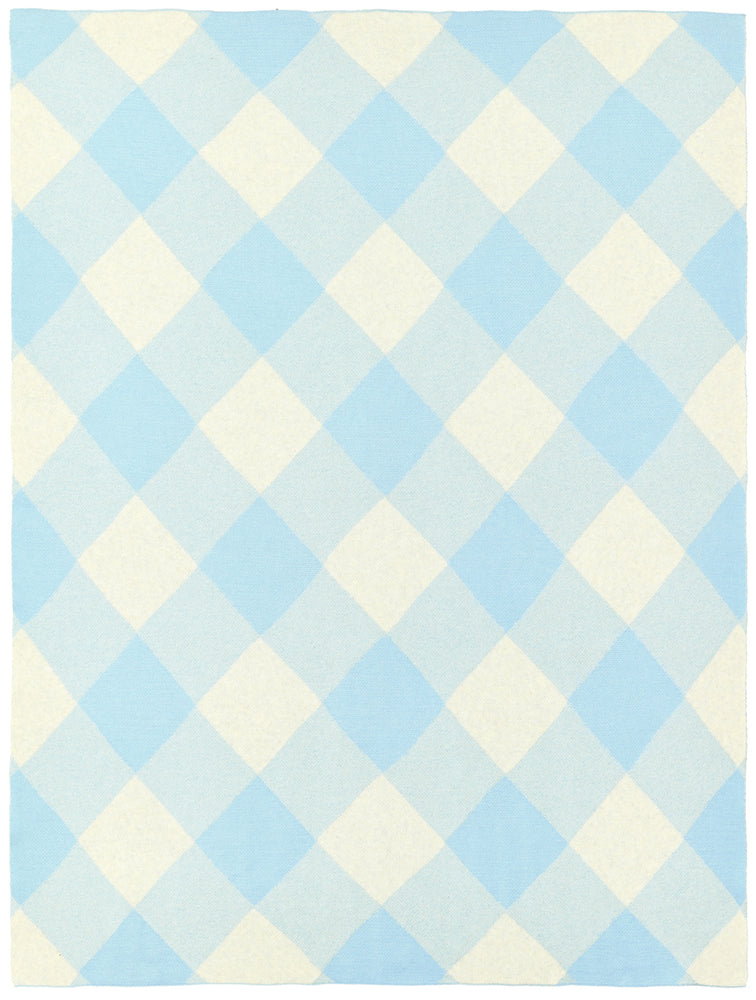 PRE ORDER SKY BLUE TARTAN BABY THROW