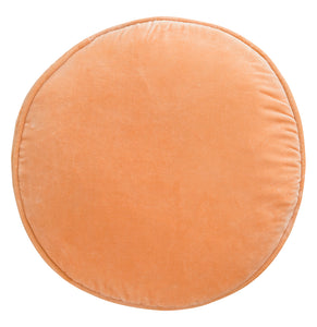 Peach Velvet Penny Round Cover by Castle