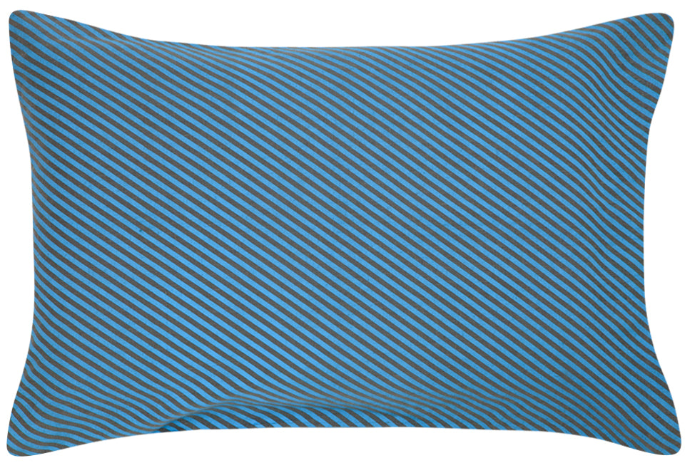 Slate Linen Diagonal Pillowcase by Castle. 50 x 75cm