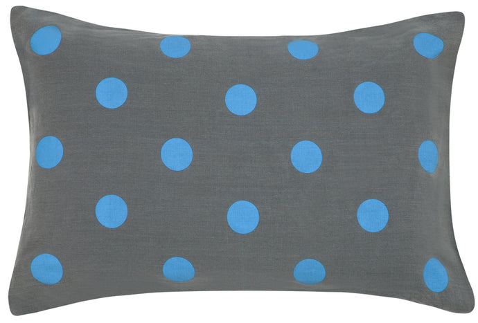 SLATE LINEN JUMBO SPOT PILLOWCASE