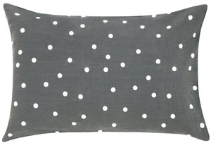 SLATE LINEN RANDOM SPOT PILLOWCASE