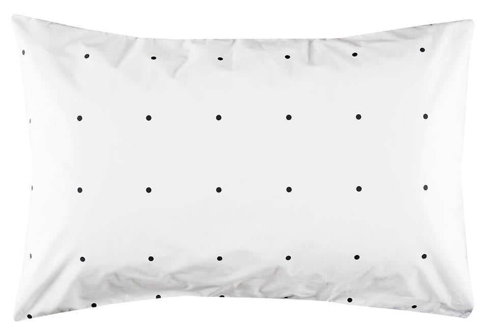 Charcoal Pegboard Pillowcase by Castle. 50 x 75cm