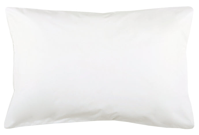 Plain White Pillowcase by Castle. 50 x 75cm