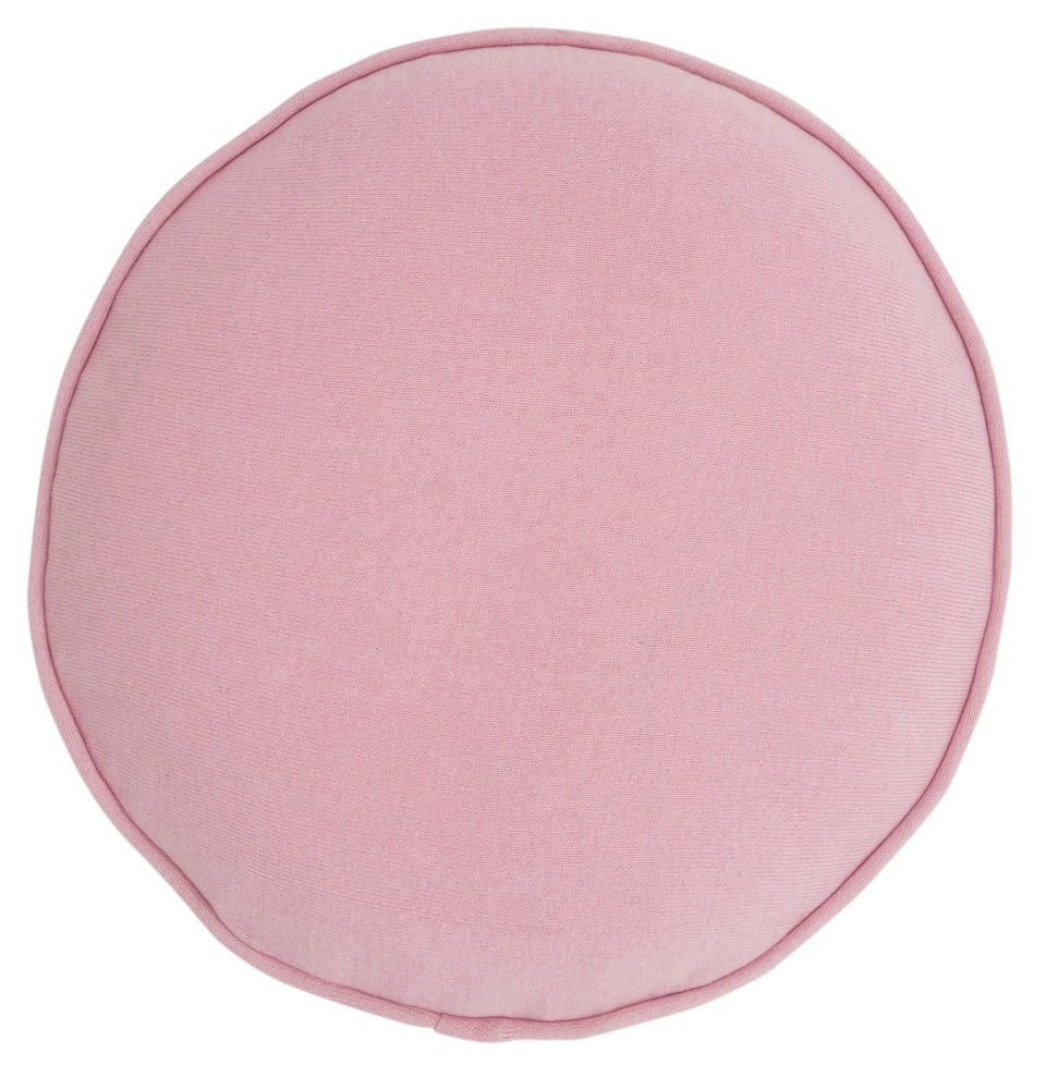 Pink Cotton Knit Penny Round Cover by Castle