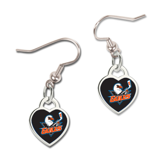 Gulls Heart Shaped Earrings