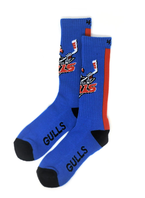 Gulls Bolt Blue Crew Sock