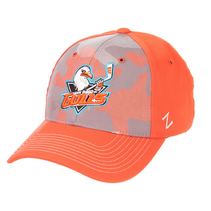 Orange Camo Stretch Fit Hat