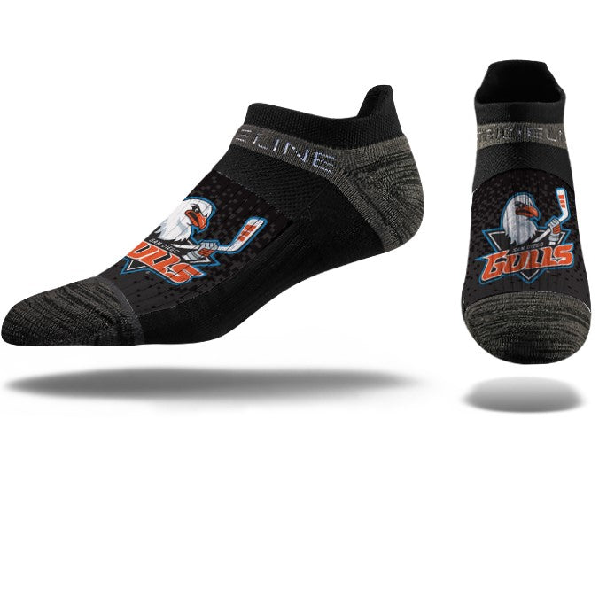 Strideline No Show Black Socks