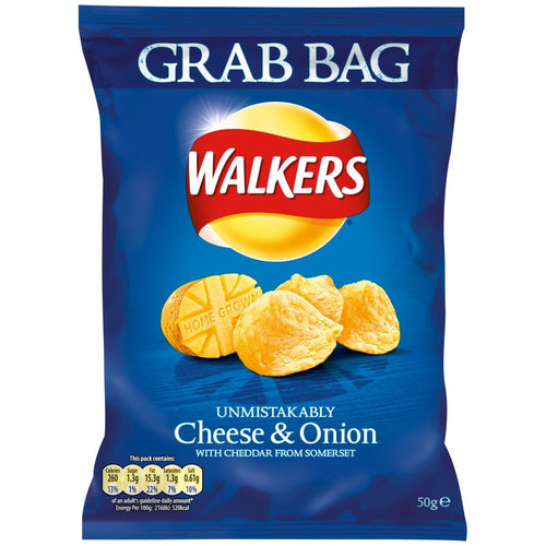 Walkers Cheese and Onion Crisps - GRAB BAG