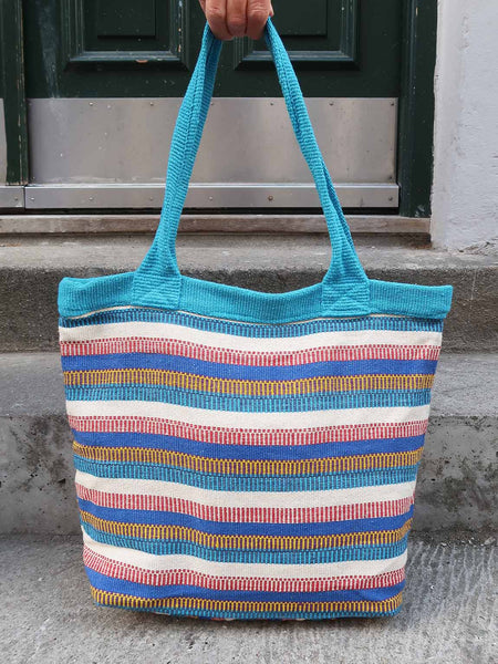 Tote Nepal Multi Coloured Stripe