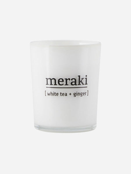 Meraki Scented Candle, White Tea & Ginger