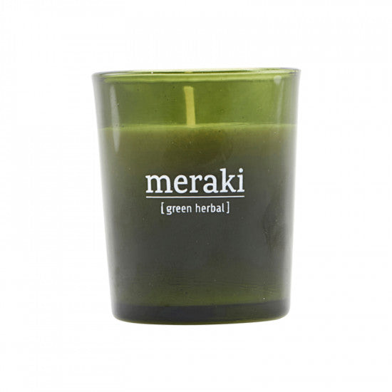 Meraki Scented Candle, Green Herbal