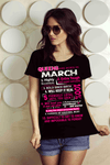 10 REASONS QUEENS ARE BORN IN MARCH, GET BIRTHDAY BASH 50% OFF PLUS (FLAT SHIPPING) - LA Shirt Company