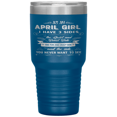"""April Girls 3 Sides ""Tumbler.Buy For Family & Friends. Save Shipping. - LA Shirt Company"