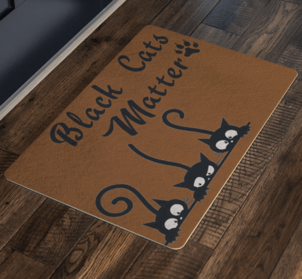 Black Cat Matter, Pets Special Doormat For homes Exclusive ( Best price Deal) - LA Shirt Company