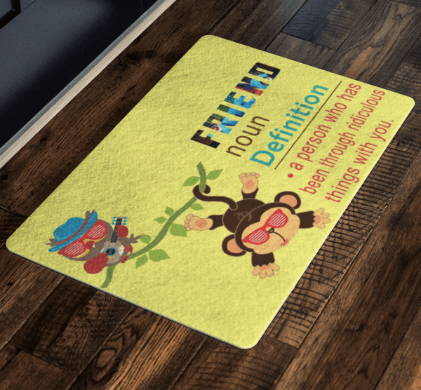 Friends Welcoming Doormat Specially design for house parties, Exclusive ( Best price Deal) - LA Shirt Company