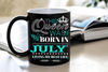 """This Queen Was Born In JULY""... ( Birthday Special Mugs 50% off today) - LA Shirt Company"