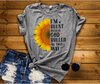 """I'M BLUNT BECAUSE GOD ROLLED ME THAT WAY"" (50% OFF )FLAT SHIPPING sunflower design - LA Shirt Company"