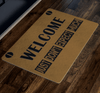 "Welcome Just Don't Expect Much!"" Festival Special Doormats Exclusive ( Best price Deal) - LA Shirt Company"