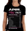 """April Girl Facts"" Personalize Birthday Month Shirt 50% Off for B'day Girls. Flat Shipping - LA Shirt Company"