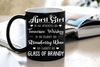 """April Girl Is As Smooth As Whiskey....As Warm As Brandy"".. ( Birthday Special Mugs 50% off today) - LA Shirt Company"