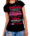 """As An April Girl My Standards Are High"" 50% Off for B'day Girls. Flat Shipping(Pink Design) - LA Shirt Company"