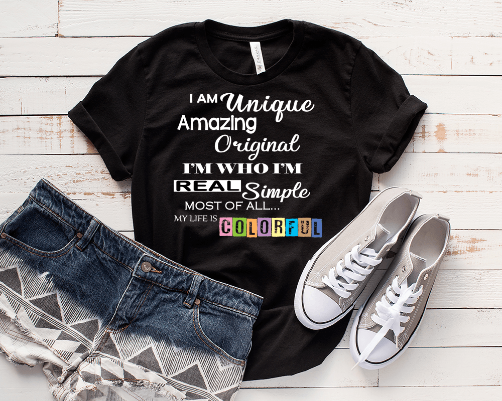 """ I AM UNIQUE AMAZING... "", 50% Off Flat Shipping. - LA Shirt Company"