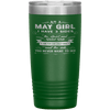 """May Girls 3 Sides ""Tumbler.Buy For Family & Friends. Save Shipping. - LA Shirt Company"