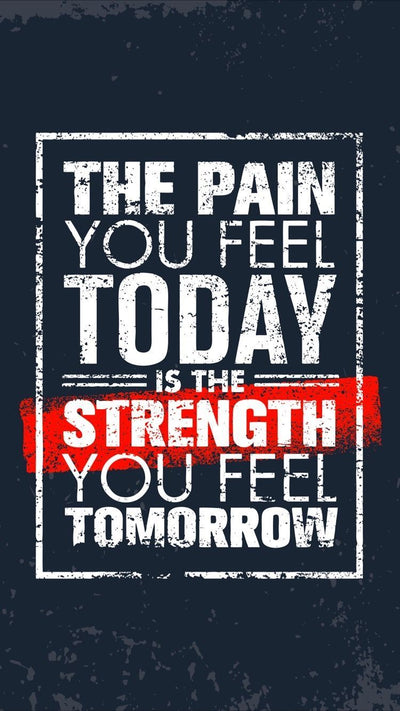 The Pain You Feel Today, Is Strength You Feel Tomorrow, Canvas Design - LA Shirt Company