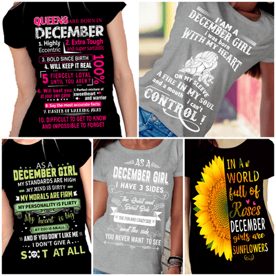 """Get Exclusive Discount On December Combo Pack Of 5 Shirts""(Flat Shipping) For B'day Girls. - LA Shirt Company"