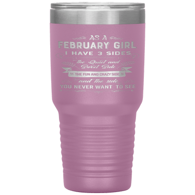 """February Girls 3 Sides""Tumbler.Buy For Family & Friends. Save Shipping. - LA Shirt Company"