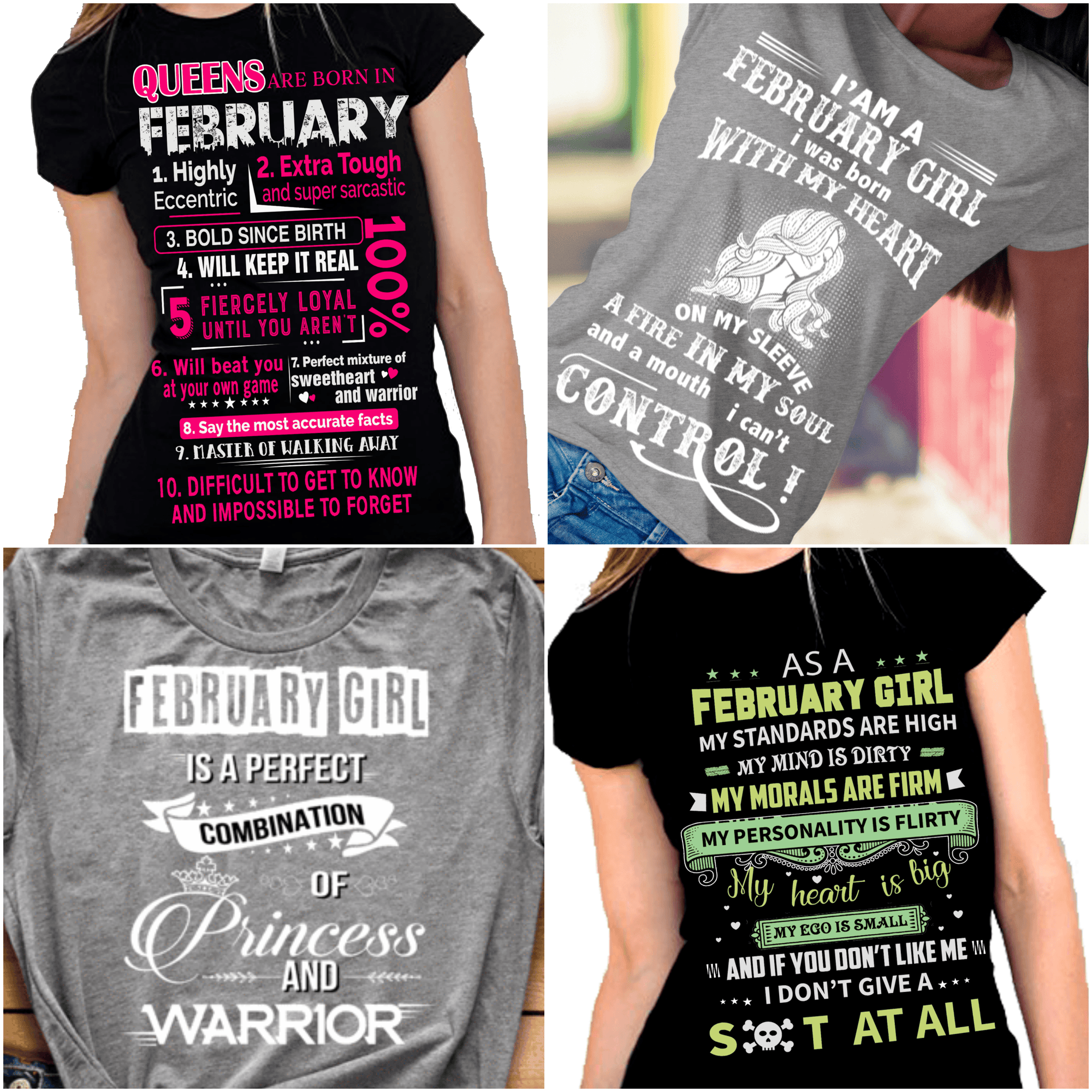 """Get Exclusive Discount On February Combo Pack Of 4 Shirts(Flat Shipping) For B'day Girls. - LA Shirt Company"