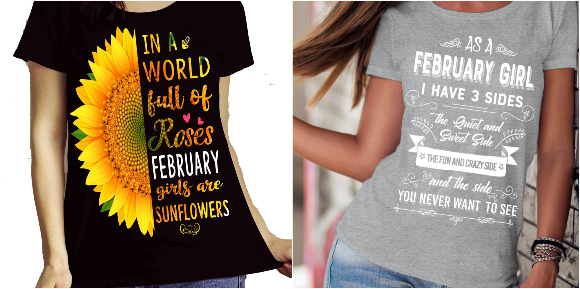 "Februray Combo (Sunflower And Walk Away)""(Flat Shipping) For Girls - LA Shirt Company"