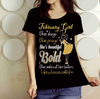 """FEBRUARY Girl She Slays She Prays She's Beautiful Bold Shirt"" 50% Off for B'day Girls. Flat Shipping. - LA Shirt Company"