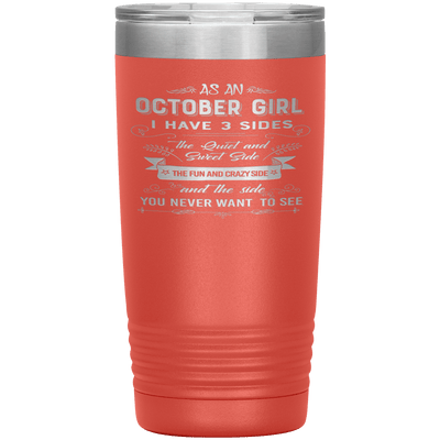 """October Girls 3 sides ""Tumbler.Buy For Family & Friends. Save Shipping. - LA Shirt Company"