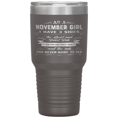 """November Girls 3 sides""Tumbler.Buy For Family & Friends. Save Shipping. - LA Shirt Company"