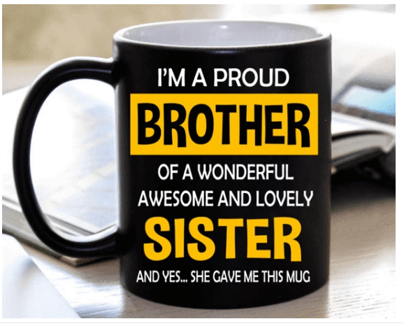 """I'm A Proud Brother "" MUG (50% OFF). Flat Shipping. - LA Shirt Company"