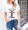 """I'M JUST A WOMAN WHO LOVES...""T- Shirt. - LA Shirt Company"