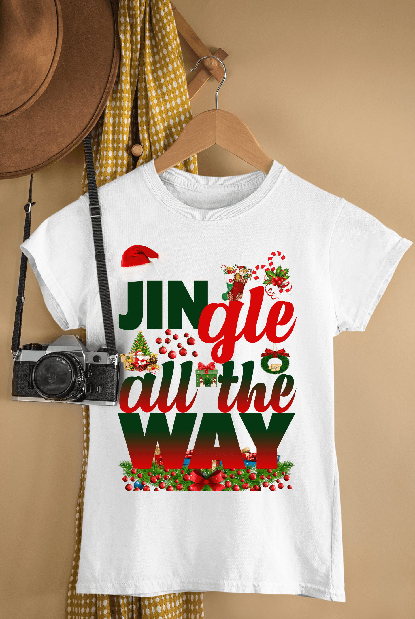 """JINGLE ALL THE WAY ""T-SHIRT"