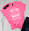 As A July Girl, I Have 3 Sides, GET BIRTHDAY BASH 50% OFF PLUS (FLAT SHIPPING) - LA Shirt Company
