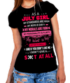 """As A July Girl My Standards Are High"" 50% Off for B'day Girls. Flat Shipping(Pink Design) - LA Shirt Company"