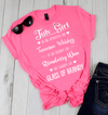 """July Girl Is As Smooth As Whiskey.........As Warm As Brandy"" 50% Off for B'day Girls. Flat Shipping - LA Shirt Company"