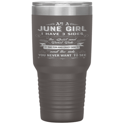 """June Girls 3 Sides'Tumbler.Buy For Family & Friends. Save Shipping. - LA Shirt Company"