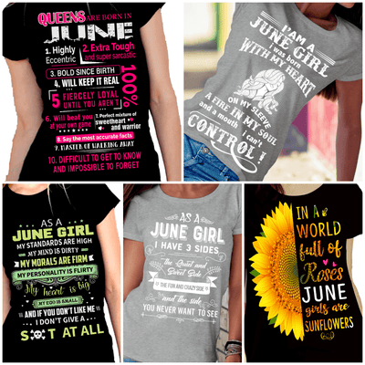 """Get Exclusive Discount On June Combo Pack Of 5 Shirts""(Flat Shipping) For B'day Girls. - LA Shirt Company"
