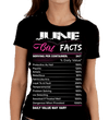 """June Girl Facts"" Personalize Birthday Month Shirt 50% Off for B'day Girls. Flat Shipping - LA Shirt Company"