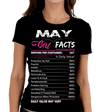 """May Girl Facts"" Personalize Birthday Month Shirt 50% Off for B'day Girls. Flat Shipping - LA Shirt Company"
